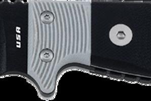 Utica Fixed 9.5 Black Powder Coated & Micarta Handle