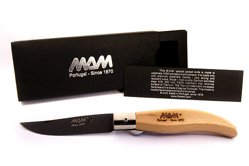 MAM Pocket Knife with Black Titanium Blade - Iberica