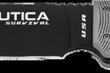 Utica Fixed 18 Black Powder Coated & Micarta Handle