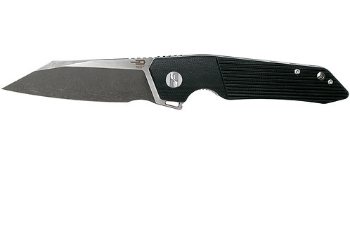 Bestech Barracuda Black Stonewash satin Black G10 BG15A-2