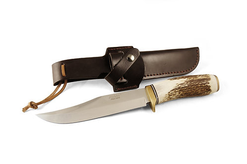 MAM Hunting knife with deer horn - סכין ציד מאמ עם ידית מקרן צבי