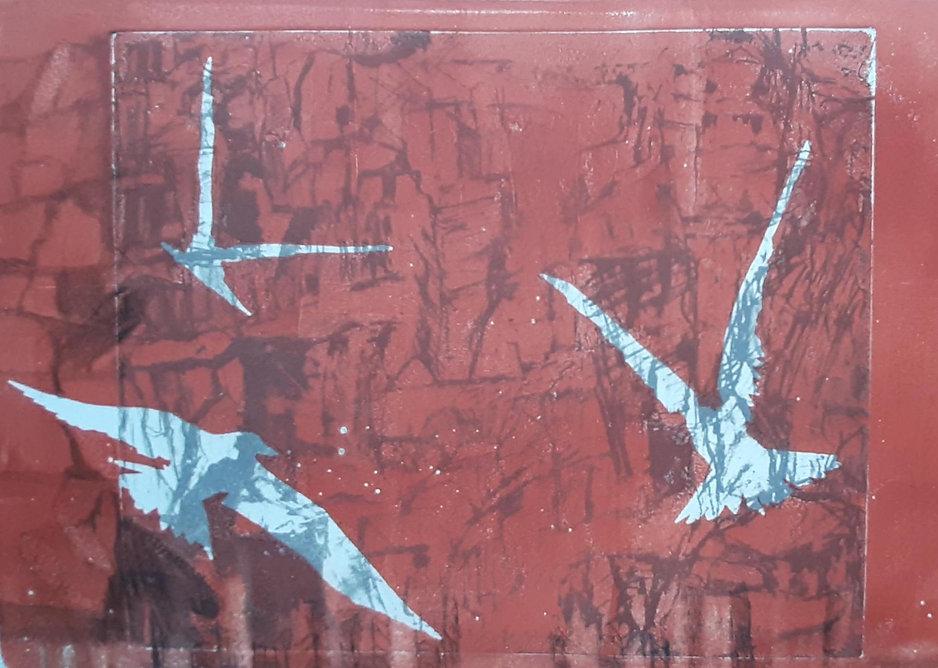 Onuf_Vanishing Terns 2_monoprint_12x9_20