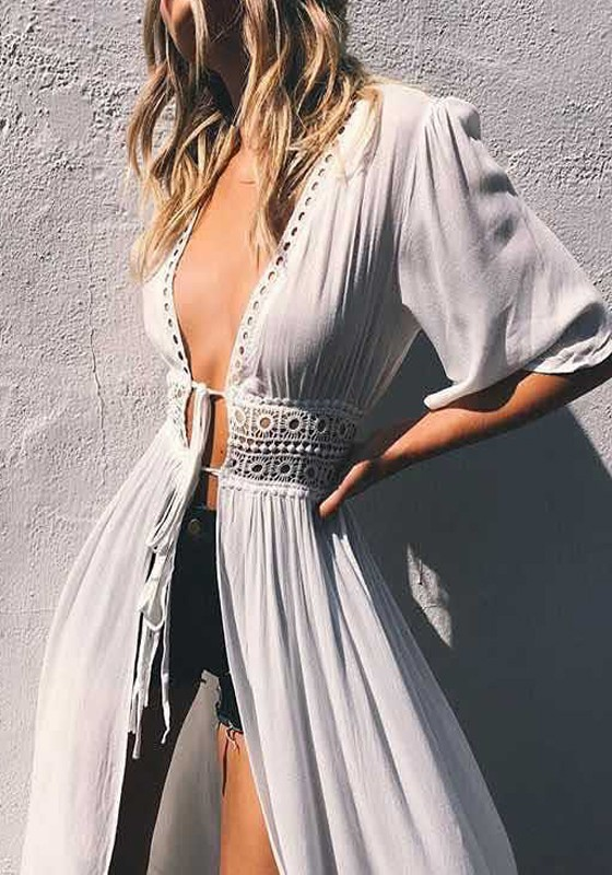 white-patchwork-lace-pleated-lace-up-hal