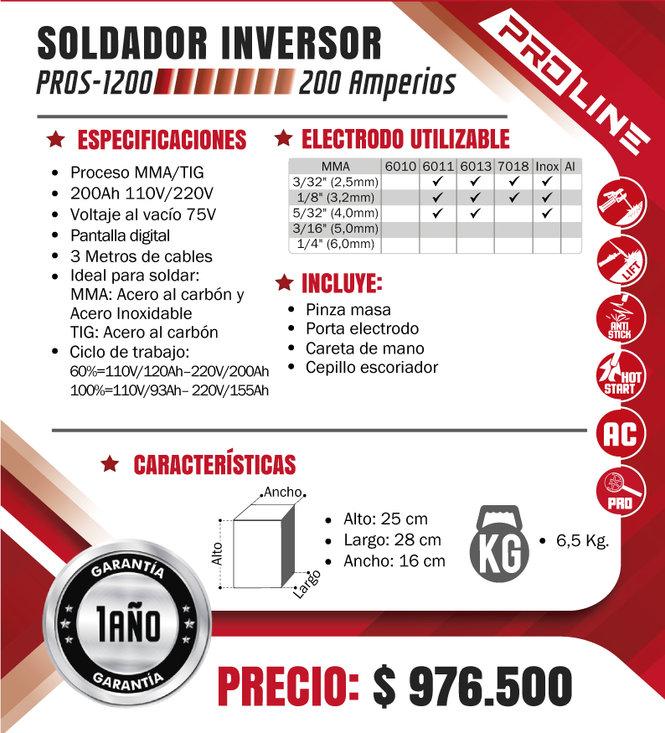 SOLDADOR-PROLINE-PROCESO-MMA-TIG-200-AMP