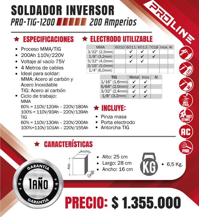 SOLDADOR-PROLINE-PROCESO-TIG-SMAW-200-AM