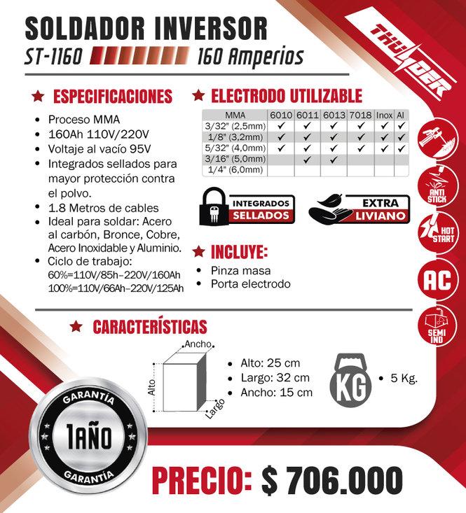 SOLDADOR-THUNDER-PROCESO-SMAW-160-AMPERI
