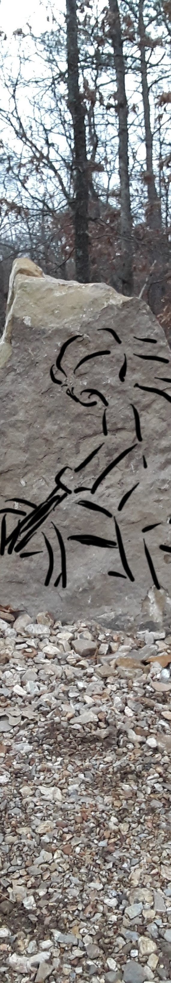 Concept drawing on rock