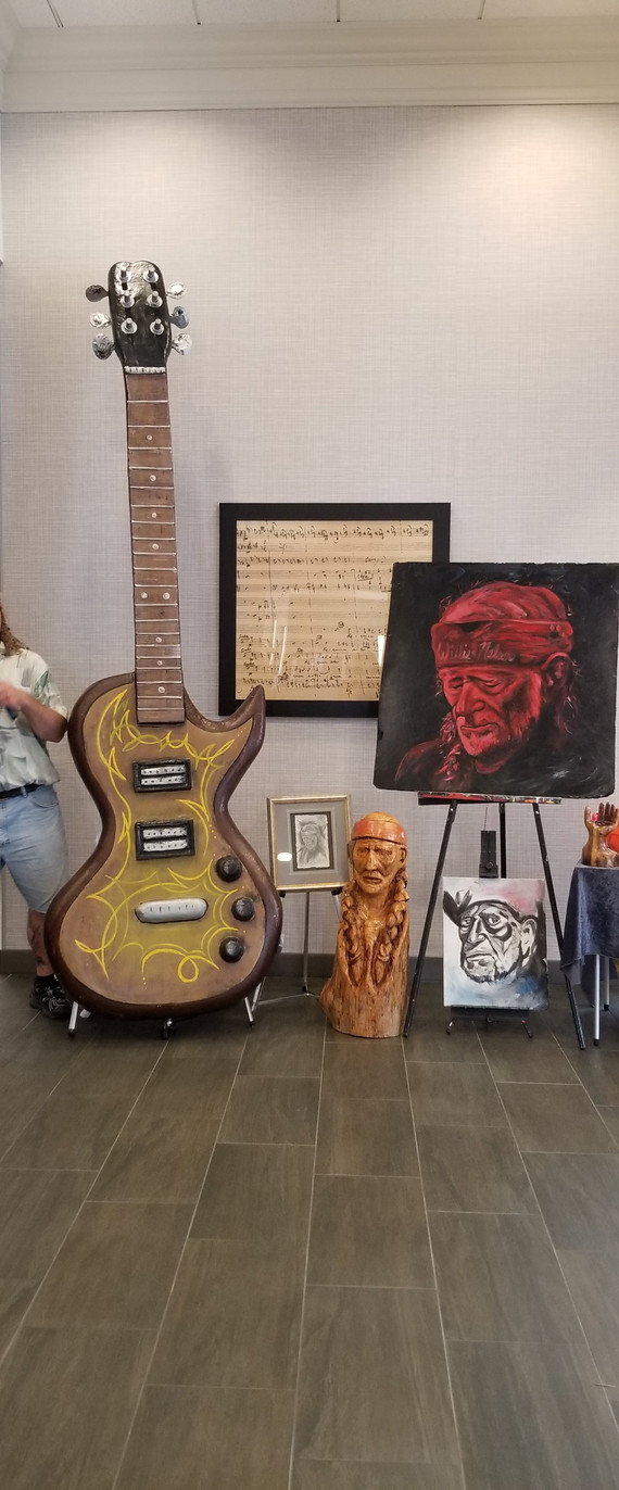 Willie sculptures and paintings