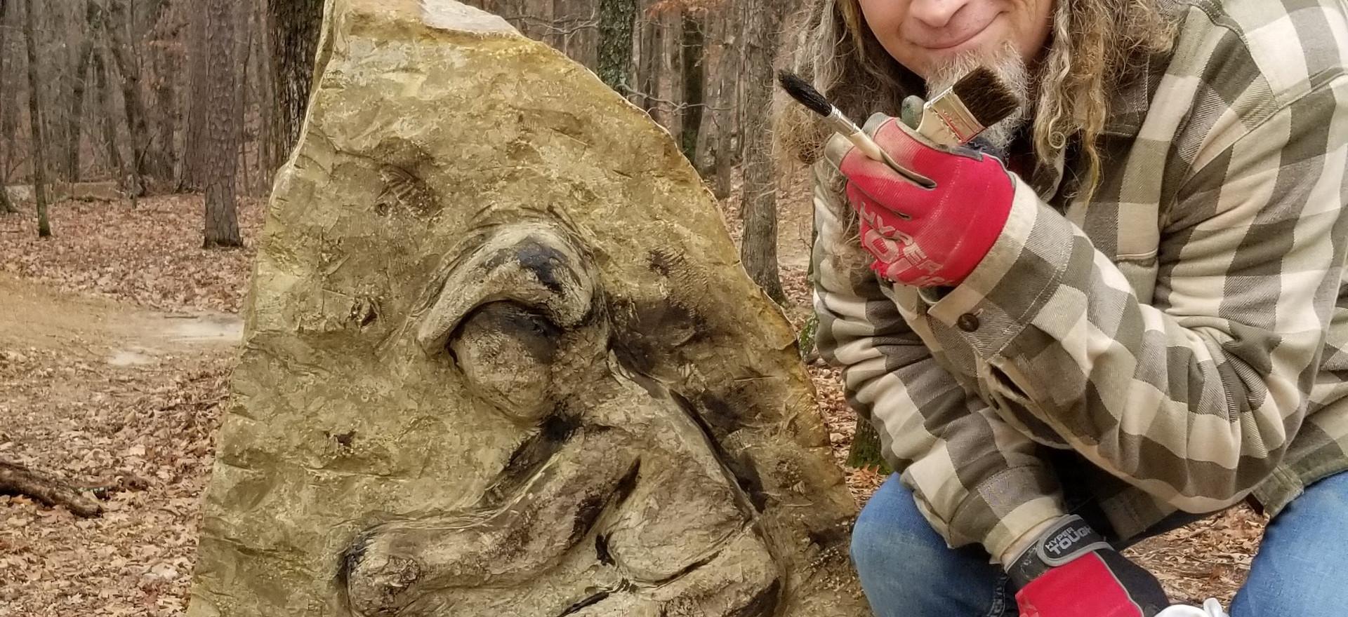 Sculpture at Lake Leatherwood Gravity Downhill