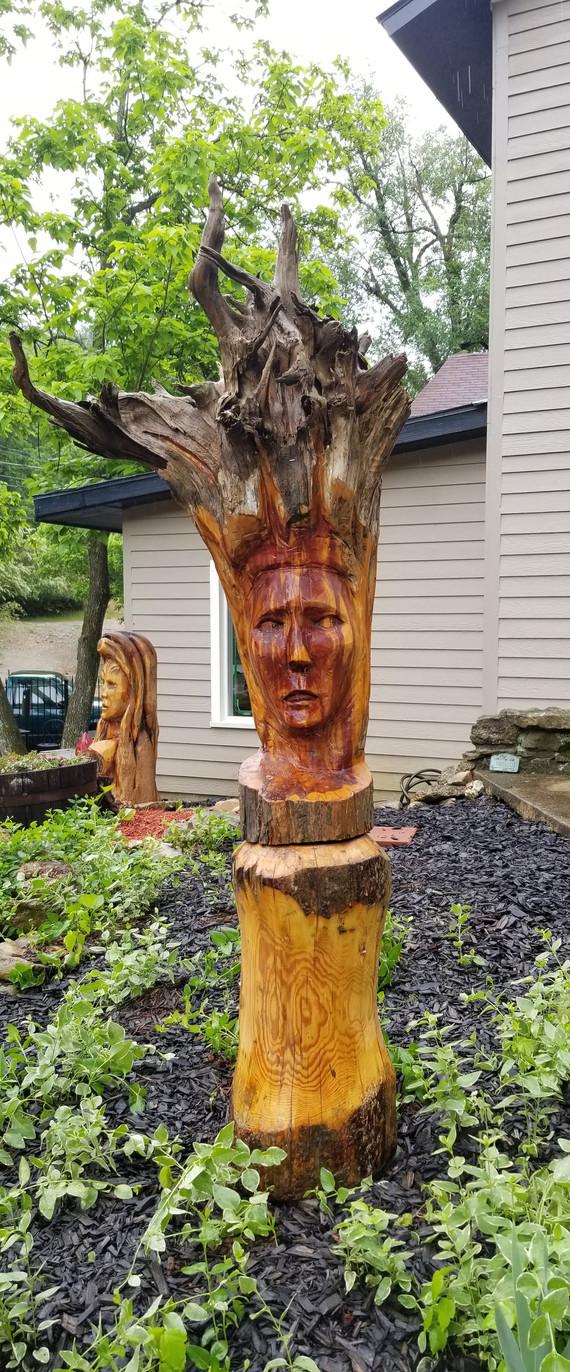 Cedar princessarving of Man