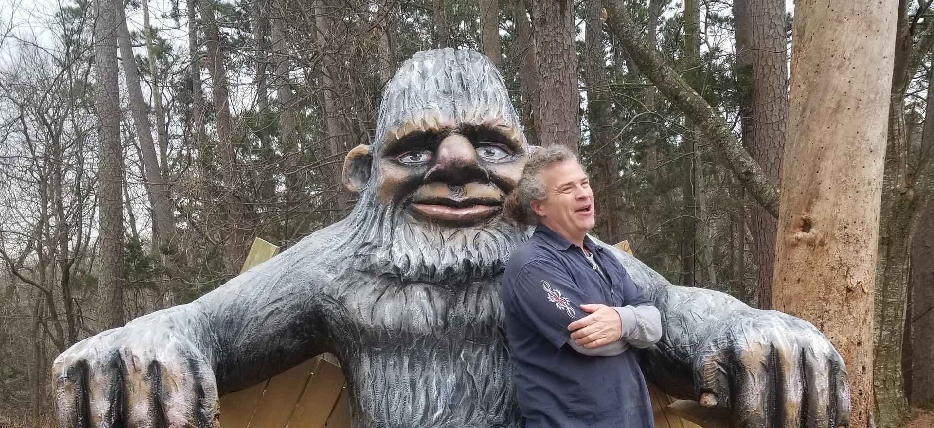 Bigfoot/Sasquatch broke the bench!