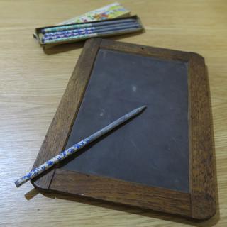 1860-70年代 石刻板和石筆 Slate and Slate Pencil, 1860-70s