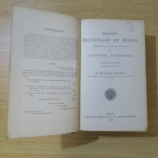 Hadyn's Dictionary of Dates (latest Edition)