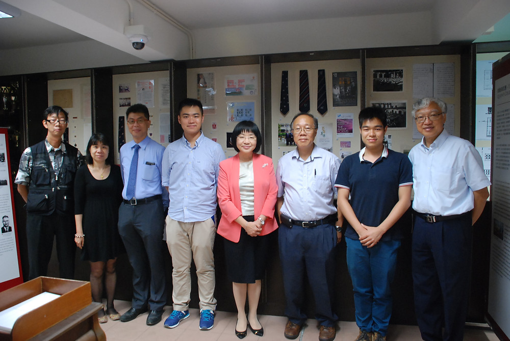 The exhibition was opened by the Principal of Queen's College, Ms. Li Sui Wah, and senior staffs.