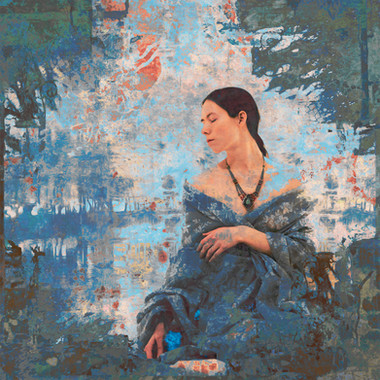 Woman with Turquoise Gemstone
