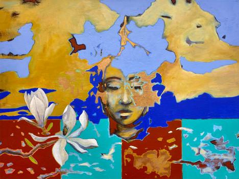 Buddha with Magnolias