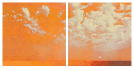 Crescent Moon I & II (diptych)