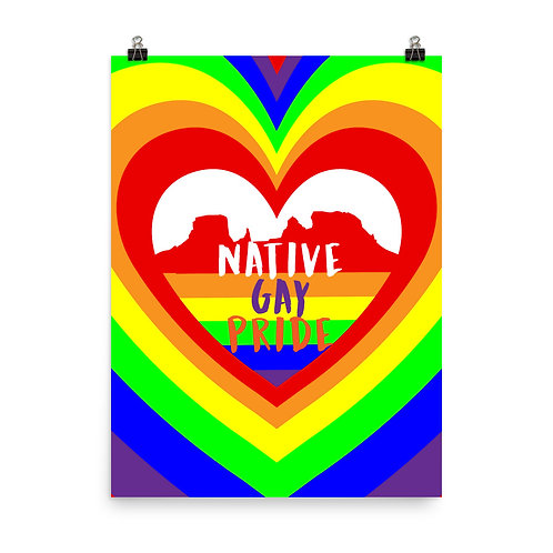Native Gay Pride Poster
