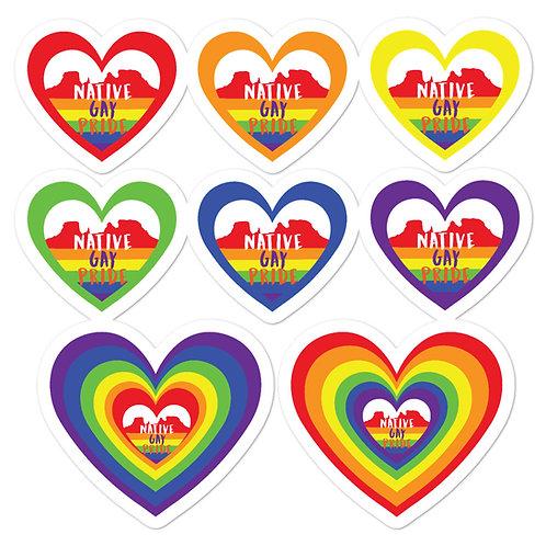 Native Gay Pride Stickers