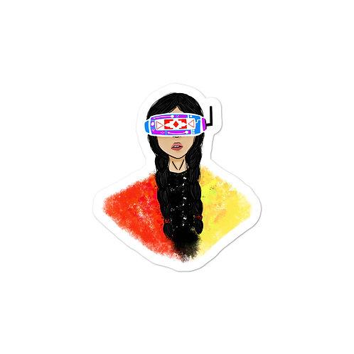 Native VR Girl Stickers