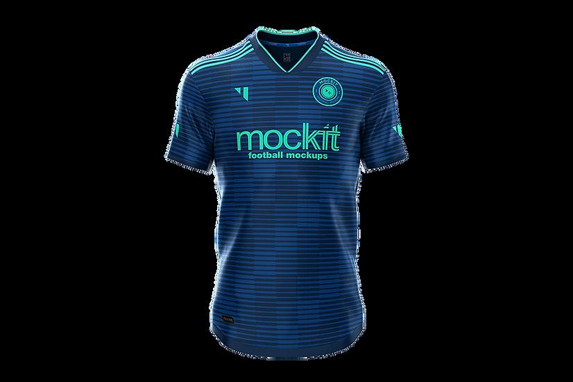 Mockup Shirt - 3 Stripes - V Neck - Front