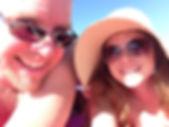 beach selfie w Bob.JPG