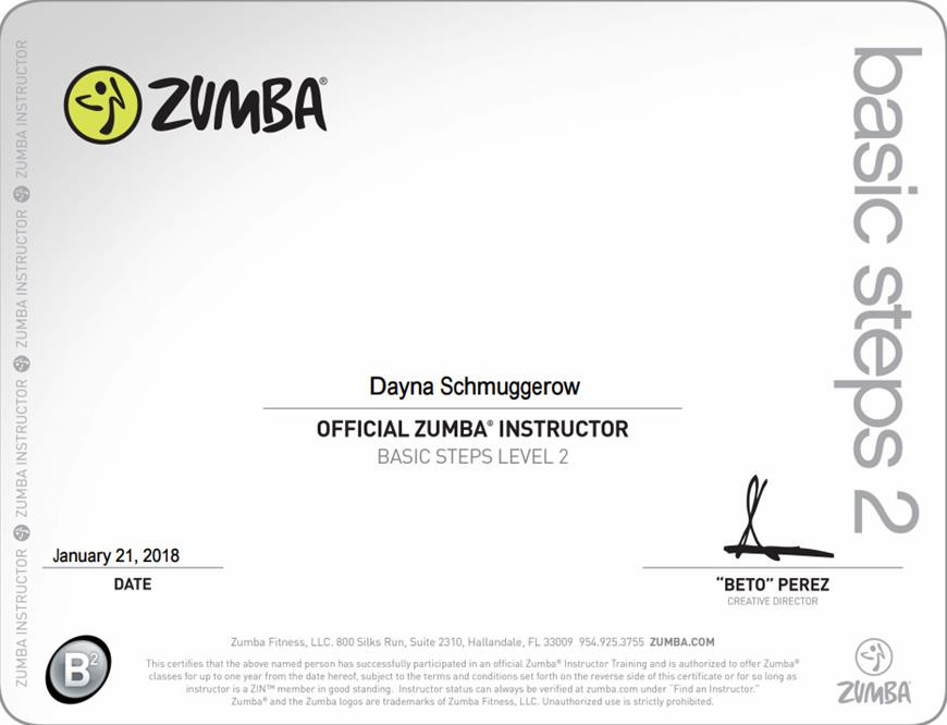 Certification And License Geneva Bloom By Dayna