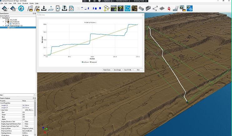 Digitální model terénu, Carlson Precision 3D TOPO obsahuje řadu funkcí pro editaci a analýzu DMT