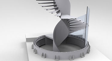 Detail CAD prostorových dat získaných reverzním inženýrstvím včetně přesně zaměřených pozic kotvicích trnů, které již ocelová konstrukce měla.