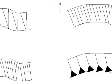 Svahové šrafy v software Carlson