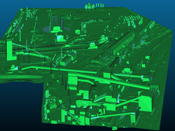 3D model průmyslpvého areálu