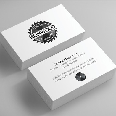 Ironwood final logo and business cards