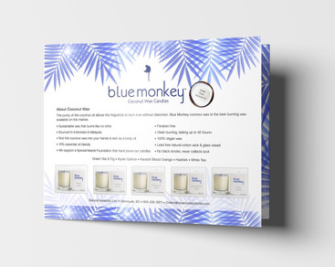 Blue Monkey Coconut Candles