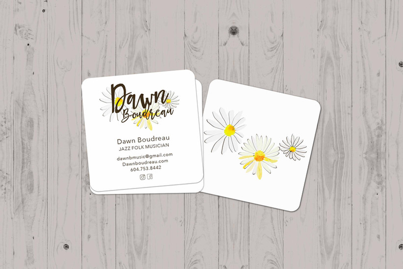 Dawn Boudreau logo and business cards