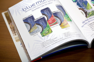 Blue Monkey Coconut Sparkling Water ad