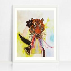Tiger mixed media art