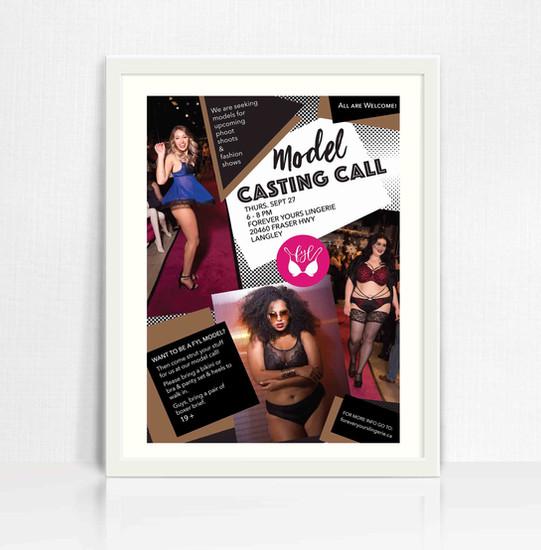 Forever Yours LIngerie Model Casting Call poster