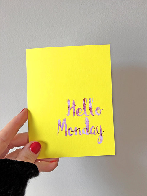 hello monday art card
