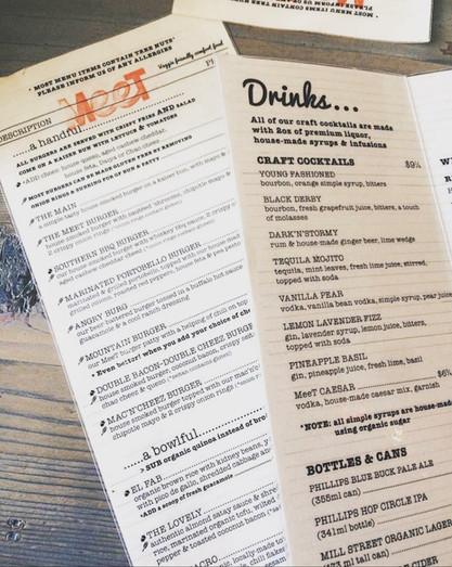 Meet in Gastown menus