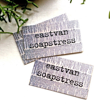 Eastvan Soapstress logo and business cards
