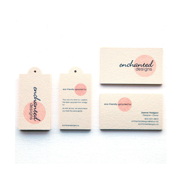 Enchanted Design business cards and tags