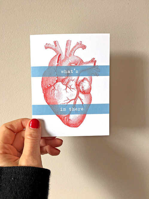 what's in there heart art card