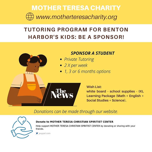 Sponsor our Tutoring program - purchase of white board - school supplies - IXL Learning Pa