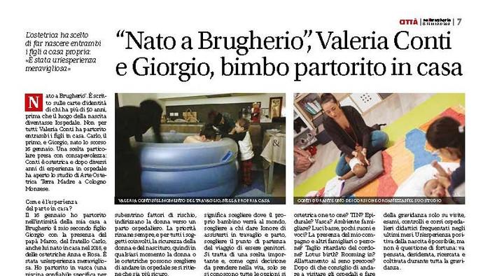 """[Intervista] """"Nato a Brugherio"""", Valeria Conti e Giorgio, bimbo partorito in casa"""