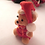 Flocked Bear Santa Vintage 1960s plastic ornament Pick  for wiring on wreath, tree, or centerpiece