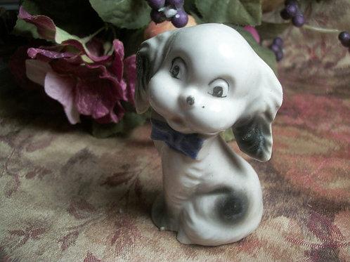 vintage, figurine, porcelain, dog, puppy, animal, made in japan, mid century, collectible, home decor, dog figurine,    Dog