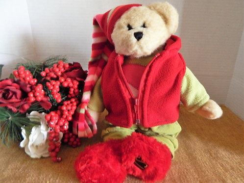 Photo of Barrett Teddy Bear Stuffed Plush ChristmasAnimal  Terry Skostad Toy Collectible Christmas Winter Home Decor Bear