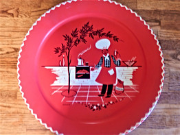 BBQ Tray Vintage 1950s Marcelline Stoyke