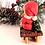 """bear, teddy bear, sled, christmas decor, snow village,santa bear, christmas bears,Snowsuit Girl Ornament 3"""" White and Blue"""