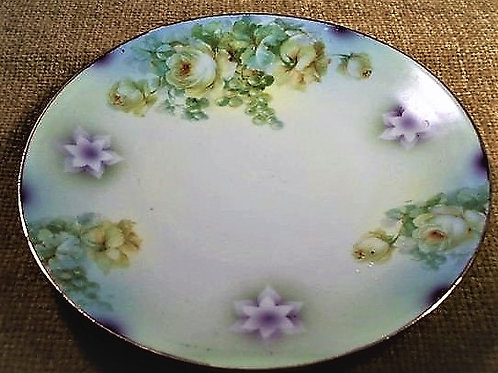 Antique Plate Rare Silesien Germany 1930s Collectible Wall Hanging Floral Home D